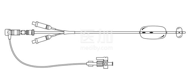 美国库克Mencini子宫输卵管造影双球囊导管DBH-100