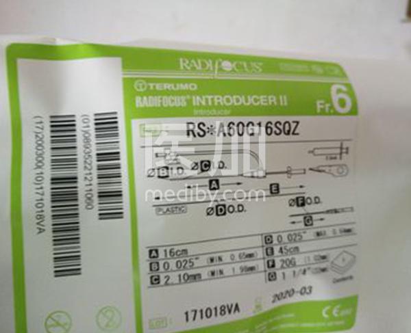 日本泰尔茂血管鞘桡动脉鞘RS*A60G16SQZ冠脉介入