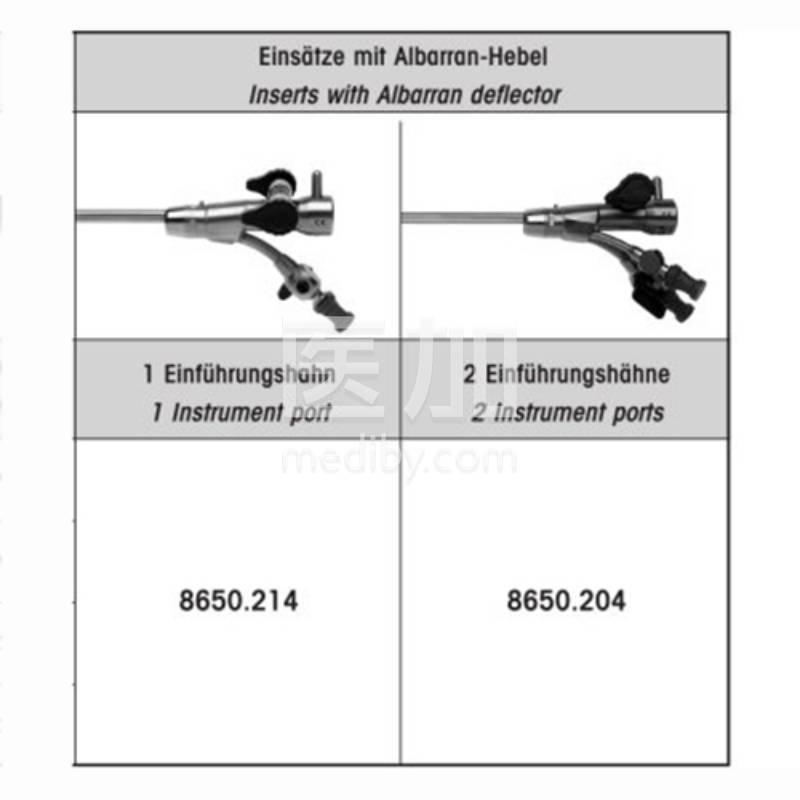 德国狼牌膀胱镜单器械管道调节鞘8650.214