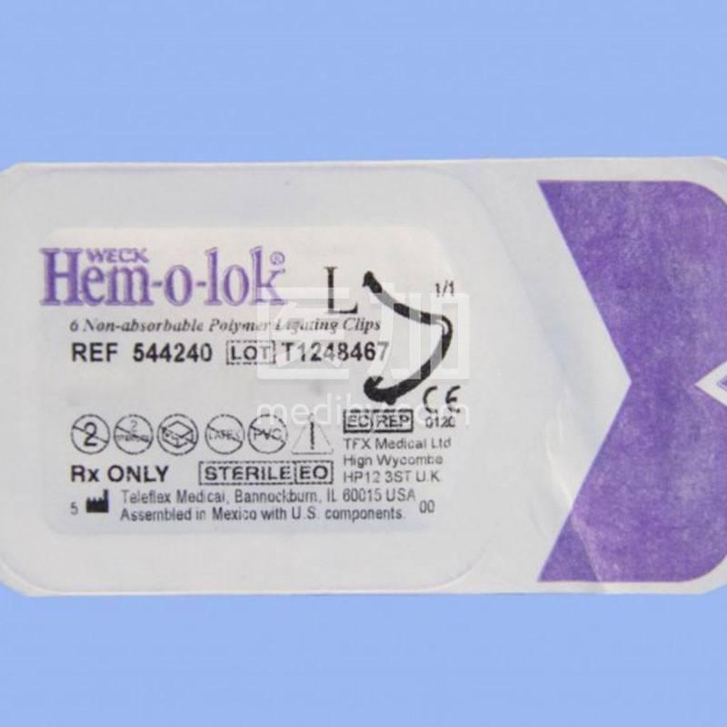 美国泰利福威克 血管夹 Hem-o-lok止血夹544240紫色大号